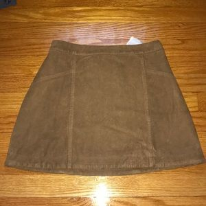 Abercrombie and Fitch Suede Women's Skirt
